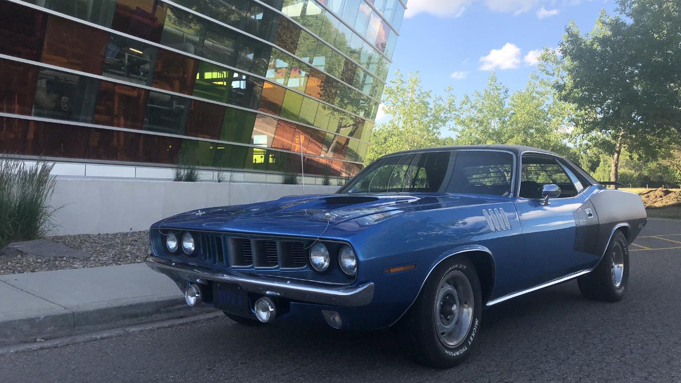 1971 Plymouth Barracuda (blue)