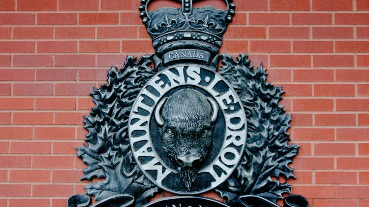 The crest of the RCMP. Photo by James Wood/106.1 The Goat/Vista Radio