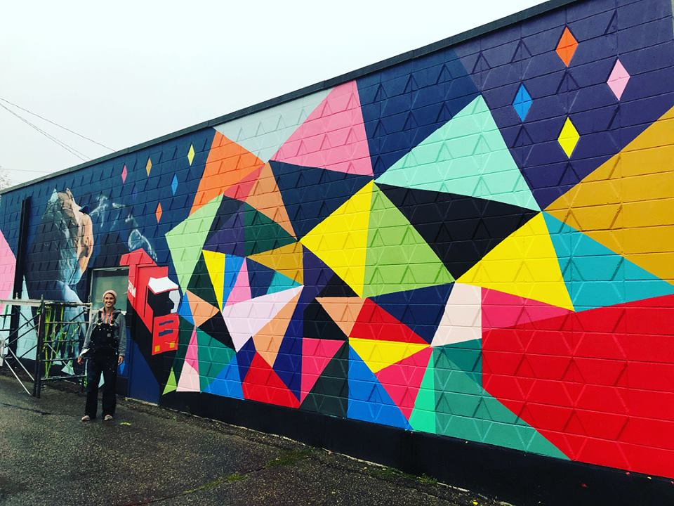 Local Artist Dressing Up Downtown With Mural My